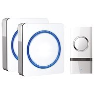 Solight 2x vezeték nélküli csengő, aljzathoz, 120m, fehér - Csengő