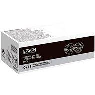 Epson S050711 fekete 2db - Toner