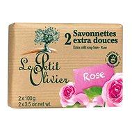 LE PETIT OLIVIER Extra gyengéd szappan - Rózsa 2×100 g - Szappan