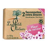 LE PETIT OLIVIER Extra gyengéd szappan - Cseresznyevirág 2×100 g - Szappan