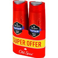 Férfi tusfürdő OLD SPICE Captain Shower Gel 2-in1 pack 2× 400ml - Pánský sprchový gel