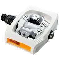 Shimano MTB PD-T400 CLICK'R pedál, SM-SH56 stoplival, fehér - Pedál