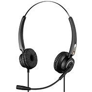 Sandberg USB Pro Stereo Headset mikrofonnal, fekete - Fej-/fülhallgató