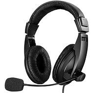 Sandberg SAVER Large USB Mikrofonos fejhallgató, fekete - Fej-/fülhallgató