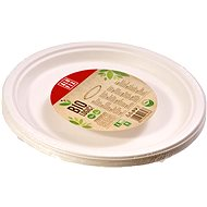 ALUFIX BIO tányér cukornádrostból 26 cm, 12 db - Edény(ek)