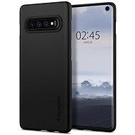 Spigen Thin Fit Samsung Galaxy S10, fekete - Mobiltelefon hátlap
