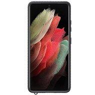 Mobiltelefon hátlap Samsung Clear védőburkolat a Galaxy S21  készülékhez Ultra Black - Kryt na mobil