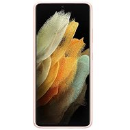 Mobiltelefon hátlap Samsung szilikon tok a Galaxy S21 készülékhez Ultra Pink - Kryt na mobil