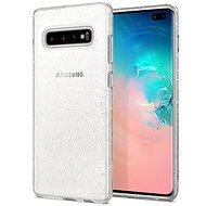 Spigen Liquid Crystal Glitter Samsung Galaxy S10+, átlátszó - Mobiltelefon hátlap