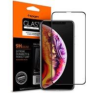 Spigen Glass FC HD iPhone XS Max fekete - Képernyővédő