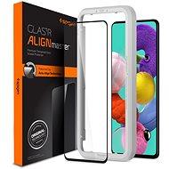 Spigen AlignMaster FC Black Samsung Galaxy A51 - Képernyővédő