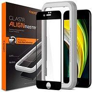 Spigen AlignMaster FC Black iPhone SE 2020/8/7 - Képernyővédő