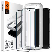 Spigen Glas tR ALM FC Black 2P iPhone 12 Pro Max - Képernyővédő