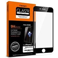 Spigen Glass FC Black iPhone 8/7 - Képernyővédő