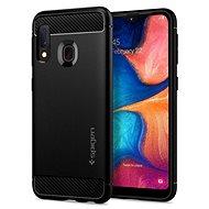 Spigen Rugged Armor Black Samsung Galaxy A20e - Mobiltelefon hátlap