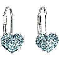 Aqua Swarovski kristályokkal díszített fülbevaló 31125,3 (925/1000; 1,4 g) - Fülbevaló