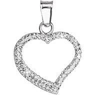 SWAROVSKI Kristályokkal díszített szív alakú medál  34093,1 (925/1000; 0,2 g) - Medál