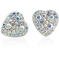 JSB Bijoux Swarovski® kristályokkal díszített szív fülbevaló (többszínű) - Fülbevaló