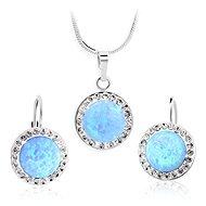 JSB Bijoux Ezüst készlet - Blue árnyalatú opálok Swarovski® kristályokkal díszítve (925/1000; - Ékszer ajándékcsomag