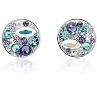 JSB Bijoux ezüst extramix lila fülbevaló Swarovski® kristály kövekkel díszített - Fülbevaló