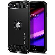Spigen Rugged Armor tok iPhone SE (2020) készülékhez - fekete - Mobiltelefon hátlap