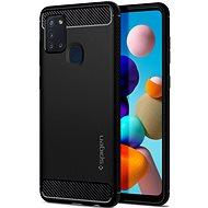 Mobiltelefon hátlap Spigen Rugged Armor Black Samsung Galaxy A21s - Kryt na mobil