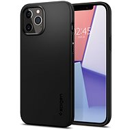 Spigen Thin Fit Black iPhone 12/iPhone 12 Pro - Mobiltelefon hátlap