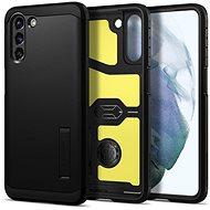 Mobiltelefon hátlap Spigen Tough Armor Black Samsung Galaxy S21+ - Kryt na mobil