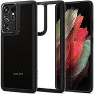 Mobiltelefon hátlap Spigen Ultra Hybrid Fekete Samsung Galaxy S21 Ultra - Kryt na mobil