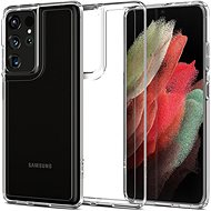 Mobiltelefon hátlap Spigen Ultra Hybrid Clear Samsung Galaxy S21 Ultra - Kryt na mobil