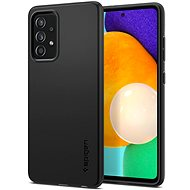 Mobiltelefon hátlap Spigen Thin Fit Black Samsung Galaxy A52/A52 5G - Kryt na mobil