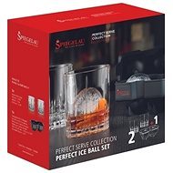 SPIEGELAU Whiskys pohár 2 db 368 ml, jégkocka forma Ice Ball PERFECT SERVE