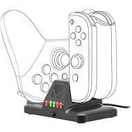 Speedlink QUAD Multi-Charger - for Nintendo Switch, black - Töltőállomás