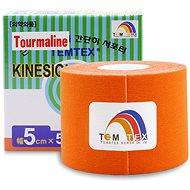 Kineziológiai szalag Temtex Tourmaline narancs 5 cm-es kineziológiai szalag