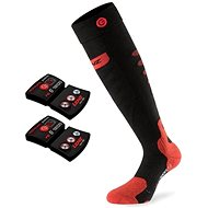 Lenz set heat sock 5.0 toe cap slim fit + lithium pack rcB 1200 /black-red - fűtött zokni
