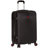 Sirocco T-1157/3-L ABS - fekete - TSA záras bőrönd