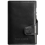 Tru Virtu Click and Slide Leather Nappa Black - Pénztárca