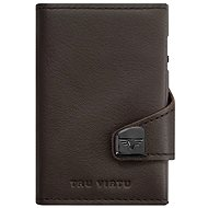 Tru Virtu Click and Slide Leather Nappa Brown - Pénztárca