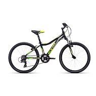"""CTM ROCKY 2.0, fekete/sárga, mérete 13"""" - Gyerek kerékpár 24"""""""