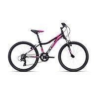 """CTM ROCKY 2.0, fekete/rózsaszín, mérete 13"""" - Gyerek kerékpár 24"""""""