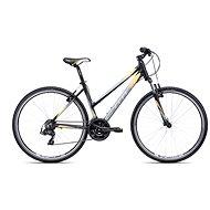 """CTM MAXIMA 1.0, fekete/sárga, mérete L/18"""" - Női cross kerékpár"""