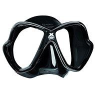 Mares X-Vision, fekete szilikon, fekete keret - Maszk