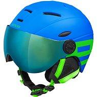 Stage Rider Pro matt kék / zöld, 53 - 55 cm méretű - Sísisak