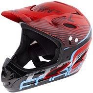 Force Tiger downhill, vörös-fekete-kék - Kerékpáros sisak