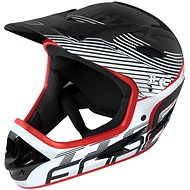 Kerékpáros sisak Force TIGER downhill - fekete-fehér-piros