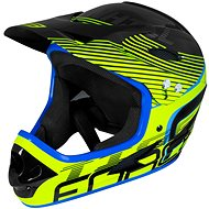 Force TIGER downhill - fekete-fluo-kék - Kerékpáros sisak