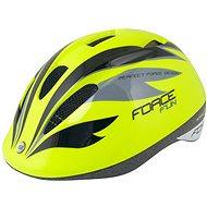 Force FUN STRIPES - gyerek, fluo-fekete-szürke - Kerékpáros sisak