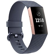 Fitbit Charge 3, Blue Grey/ Rose-Gold Aluminium - Okoskarkötő