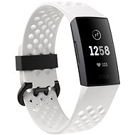 Fitbit Charge 3, Frost White Sport/ Graphite Aluminium - Okoskarkötő