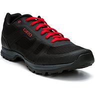 GIRO Gauge kerékpáros cipő, fekete/világos piros - Kerékpáros cipő